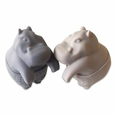 Tea Infuser Gift Set for Loose Leaf Herbal Tea, Cute Hippo Silicone Tea Strainer