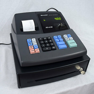 sharp xe a106 electronic cash register works great tested 32 00 rh picclick com sharp xe-a106 user guide Sharp XE-A106 Cash Register Ribbon