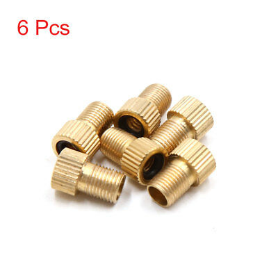 6pcs Copper Bicycle Tire Nozzle Air Valve Conversion Head Adapter Converter