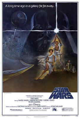 """NEW Star Wars 1977 Style A 27x40"""" Original One Sheet Sci-fi Movie Poster Reprint"""
