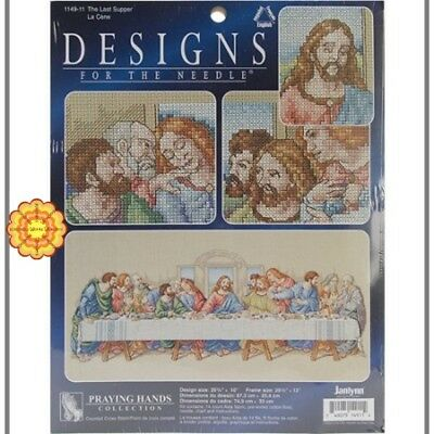 """Cross Stitch """"The Last Supper"""" Counted Cross Stitch 14-count Kit Jesus Disciples"""