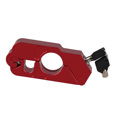 Red Motorcycle Lever Handlebar Throttle Grip Security Safety Lock