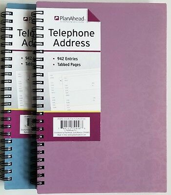 "PlanAhead Address Telephone book #72456 with Tabbed Pages 6"" X 8.25"" colors vary"