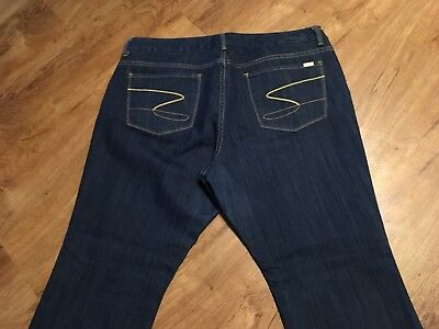 eb5fa0fb6fe Women s Seven 7 Luxe Thalia Boot Cut Jeans Size 22 Blue Cotton Polyester  Spandex