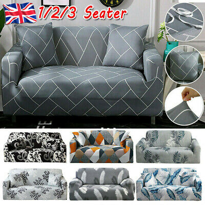 1/2/3 Seater Easy Sofa Soft Couch Slipcover Stretch Covers Elastic Fit Protector