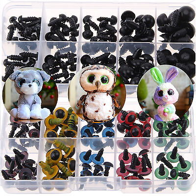 200X DIY Plastic Safety Eyes Soft Toys Teddy Bear Doll Animal Making Craft Screw