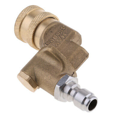 """Quick Connecting Pivoting Coupler for Pressure Washer Nozzle 1/4"""""""