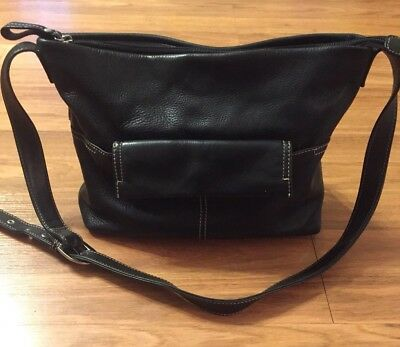 Stone Mountain Leather Purse Crossbody Bag Shoulder Black Handbag