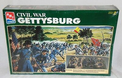 New AMT ERTL Civil War Gettysburg Skill Level 2 Model Kit Sealed 1/72 Diorama