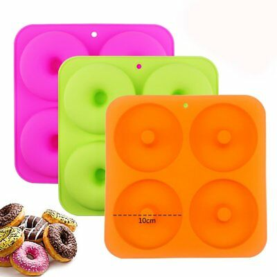 3 Silicone Cake Donut Soap Baking Mold Pan Candy Chocolate Cookie Cupcake Mould