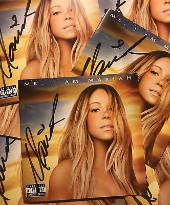 MARIAH CAREY OFFICIAL AUTOGRAPHED SIGNED ME ELUSIVE CHANTEUSE Deluxe CD Booklet