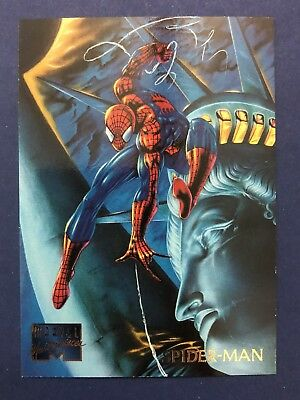 Marvel Masterpieces 1995 Fleer Card #93 Spider-Man