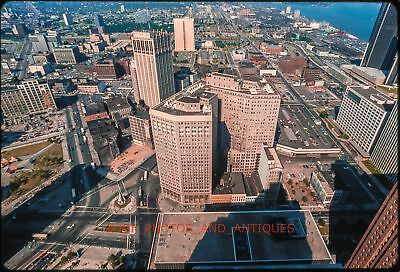 1960S Detroit Cityscape Orig Vtg Amateur 35Mm Photo Slide Buildings Skyline 5