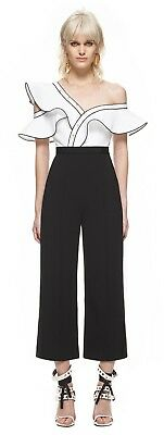 77b143ea995 NWT SELF PORTRAIT monochrome frill jumpsuit -  335.00