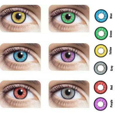 Makuep red yellow purple  Colored Circle Contact Lenses for cosplay big eyes