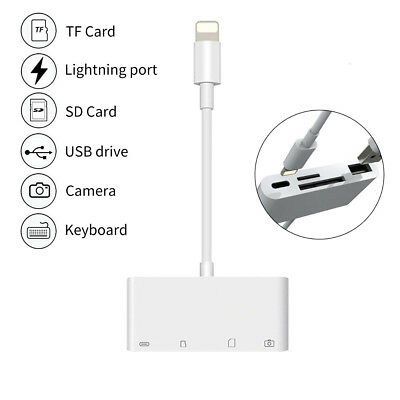 4 in 1 Camera Memory Micro SD Card Reader Adapter Lightning to USB For  iPhone