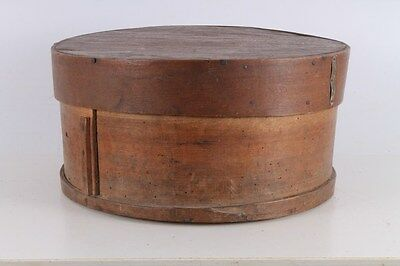 Antique Primitive Old Handmade Big Wooden Shaker Flour Box With Lid.