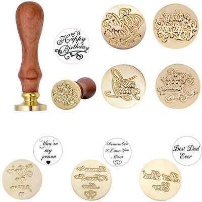Wooden Handle Seal Sealing Wax Stick Stamp Set Wedding Party Invitation Gift