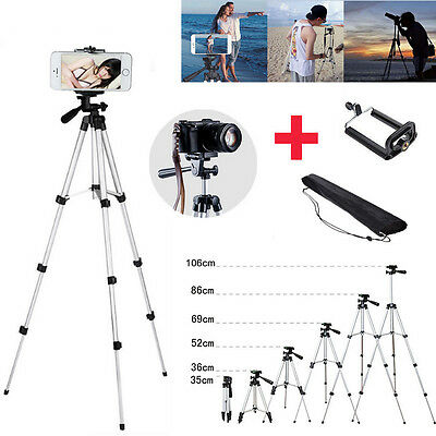 Professional Camera Tripod Stand + Bluetooth Remote +Phone Holder for Smartphone