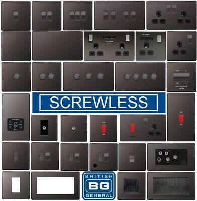 BG Black Nickel Screwless Switches and Sockets for silvania15