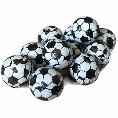 Milk Chocolate Foil Footballs Retro Sweet Shop Traditional Old Fashioned Candy