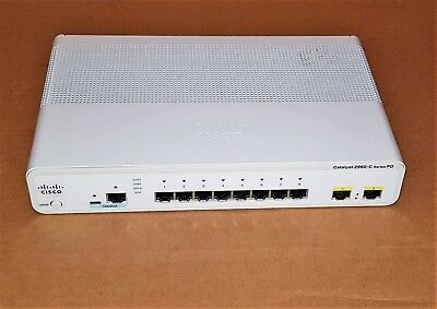 Cisco Ws-C2960Cpd-8Tt-L Catalyst 2960C Pd  Series 10 Port Switch