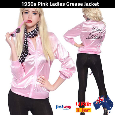 Pink Ladies Grease  Jacket 50's 1950's Costume Halloween Fancy Dress Party AUS