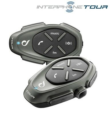 NEW Genuine new Cellularline Interphone Tour waterproof Bluetooth Twin Pack