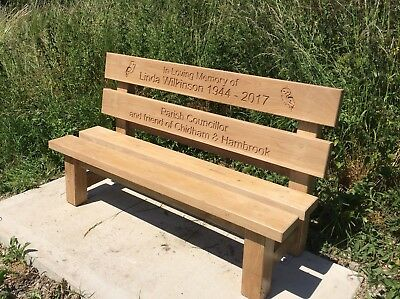 Astounding 5 Ft Engraved Oak Garden Bench Memorial Wedding Caraccident5 Cool Chair Designs And Ideas Caraccident5Info