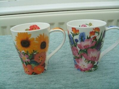 Dunoon Mugs * 2 'Flower Garden' by Claire Winteringham