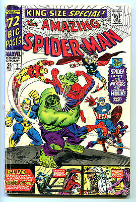 AMAZING SPIDER-MAN, 1966 King Size Special / Annual Issue #3, (Marvel 1963), GD