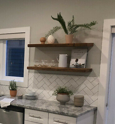 Floating Shelf, Reclaimed Barn Wood Floating Shelves, Corner Shelf Kitchen Shelf