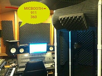 MICBOOTH-911 360 /Portable Stand-In Booth  w/ Light & w/ Encloser