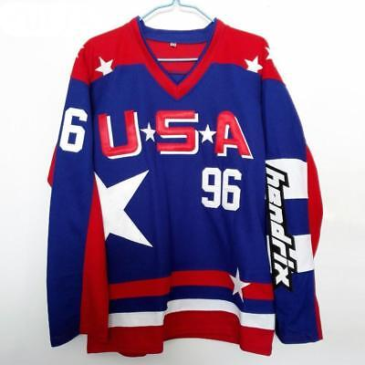 27f28fa3c THE MIGHTY DUCKS Movie Jersey 96 Charlie Conway 99 Adam Banks 66 ...