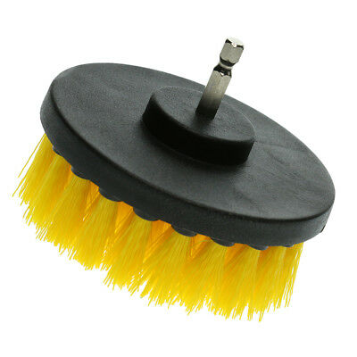 Drill Cleaning Brush Power Scrubber Stiff Scrub Clean Tool Wash Yellow 4""