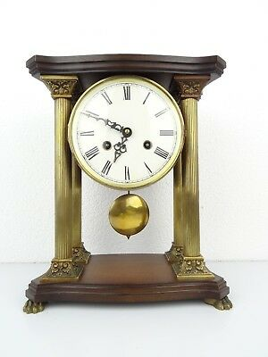 HERMLE PILLAR German Vintage Shelf Mantel 8 day Clock (Junghans Kienzle era)