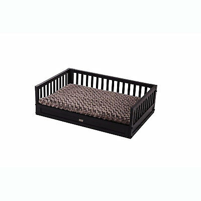 """New Age Pet Eco-Concepts Espresso Bunk Bed with Cushion Raised Dog Bed, 20"""" L x"""