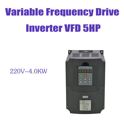 4Kw 220V 5Hp New Vfd Variable Frequency Drive Inverter For Cnc
