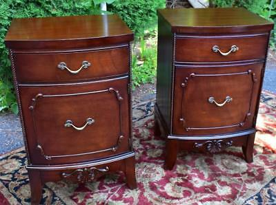 1920s Antique French Mahogany pair of Night stands