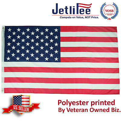 3x5 FT American Flag U.S. 2 Grommets USA Flag US Flags United States of America