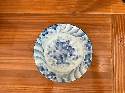 Asian Porcelain,  White & Blue  Soup Bowl, signed.