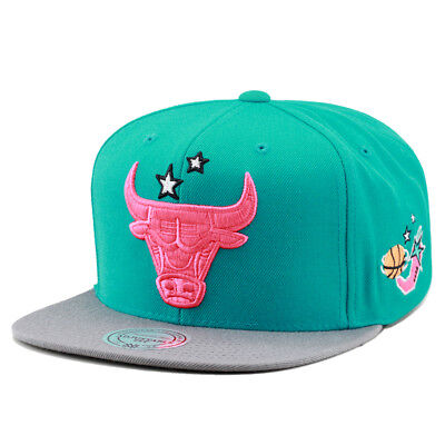 20028f915a0 ... discount code for mitchell ness chicago bulls snapback hat turquoise  grey pink logo stars fcb48 18a59