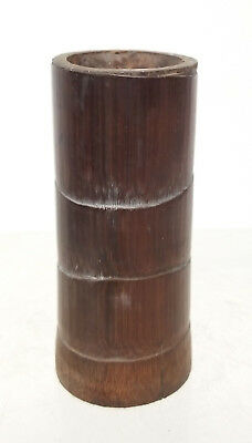 Antique CHinese Bamboo Brushpot Pen holder Carved Bitong As Is