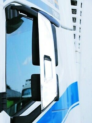 VOLVO FH4  CHROME MIRROR COVERS 2 pcs ''Super Polished''. STAINLESS STEEL
