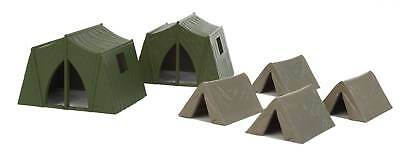 Walthers SceneMaster HO Scale Scenery Detail Set Camping Tents (4 Small/2 Large)