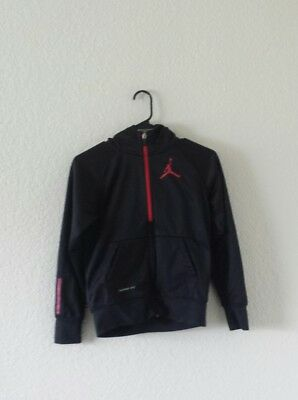 152f22d7ce1c Nike Therma Fit Air Jordan black Full Zip up Hoodie Jacket boys size M 10-