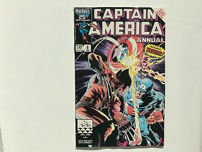 Captain America Annual #8 CLASSIC KEY ISSUE (1986) Wolverine Zeck first TESS-ONE