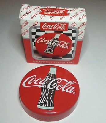 """Vintage 1996 Coca-Cola Collectible 3 1/2"""" Paperweight with box"""
