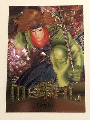 1995 Fleer Marvel Metal Card #4 Gambit