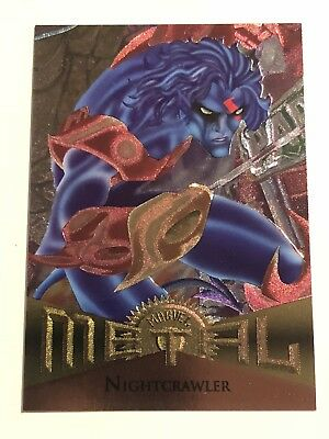 1995 Fleer Marvel Metal Card #7 Nightcrawler